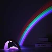 Novelty LED Colorful Rainbow Night Light Romantic Sky Rainbow Projector Lamp luminaria Home Room Decoration birthday Gifts