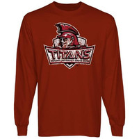 Indiana University South Bend Titans Distressed Primary Long Sleeve T-Shirt - Crimson