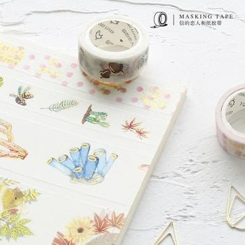 Love Everyday Gilding Washi Tape Adhesive Tape DIY Scrapbooking Sticker Label Masking Tape