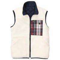 All Prep Reversible Vest in Cream by Southern Proper