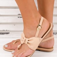 Bow Down Not Rated Sandals (Nude)