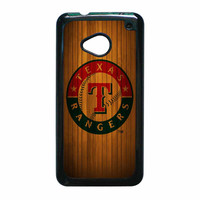 Texas Rangers Wood Pattern HTC One M7 Case