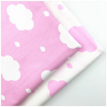 1269419,New Pink Clouds AB Printed Cotton Fabric DIY Tissue Patchwork Telas Sewing Baby Toy Bedding Quilting Tecido The Cloth