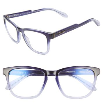 Quay Australia - Hardwire Blue Light Glasses - Navy/Clear