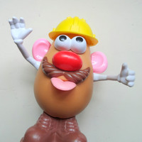 Vintage Mr. Potato Head Toy with Accessories 1985