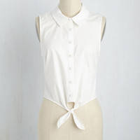 Pros and Convertibles Top in White | Mod Retro Vintage Short Sleeve Shirts | ModCloth.com