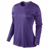 Nike Womens Miler Long Sleeve Top - Court Purple-Tops-Women's Clothing-Sale - Sport Chalet