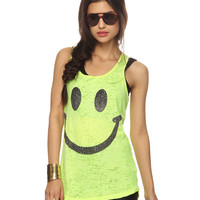 Rhinestone Happy Face Tank | FOREVER21 - 2000040517