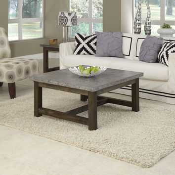 Concrete Chic Square Coffee Table | Overstock.com Shopping - The Best Deals on Coffee, Sofa & End Tables