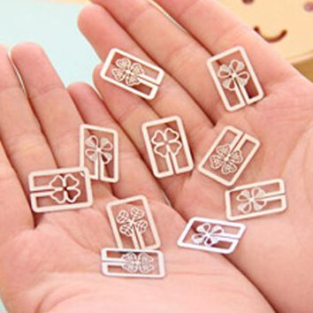 10Pieces Mini Metal Bookmark Cartoon Shape Book Mark Stationery Book Decorations Kid Prize Gifts School Office Bookmark