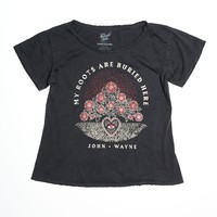 My Roots Are Buried Here Boyfriend Tee - Vintage Black