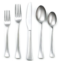 20-Pc Keats Satin Stainless Steel Set, Flatware Place Settings
