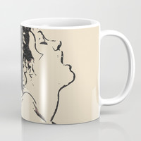 Take me to heaven - erotic bedroom games, sexy girl submissive act, naughty topless woman Coffee Mug by Casemiro Arts - Peter Reiss