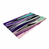 "Nika Martinez ""Colorful Beach Waves"" Abstract Purple Woven Area Rug"