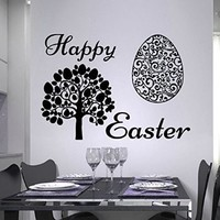 Easter Wall Art Sunday Decal Vinyl Egg Sticker Twig Kitchen Home Decals Interior Design Cafe Restaurant Decor Murals Ah128