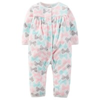 Carter's Print Microfleece Coverall - Baby Girl, Size:
