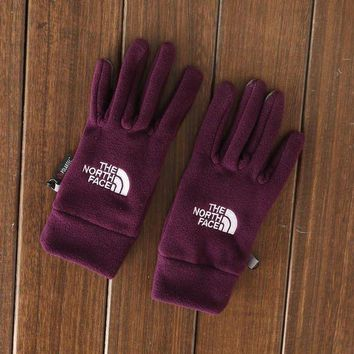 ONETOW Day-First? Outdoors The North Face Sports Fleece Cycling Gym Gloves