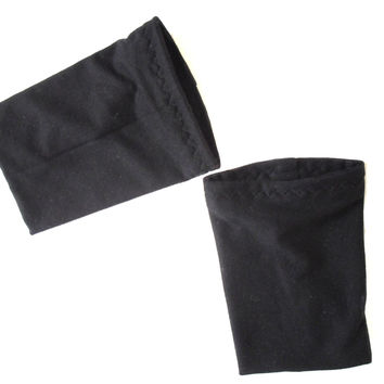 Black Wrist Warmers, Tattoo Cover Sleeves, Arm Warmers fits 6 to 6 1/2'' wrist circumference M size