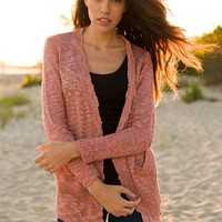 Reduced and Spruced Loose Knit Cardigan - Mauve from Sunday Afternoon at Lucky 21