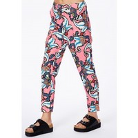 Missguided - Angeletta Paisley Print Silk Feel Trousers