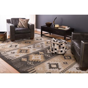 Meticulously Woven Black/Grey Southwestern Aztec Nomad Area Rug (7'9 x 11'2) | Overstock.com Shopping - The Best Deals on 7x9 - 10x14 Rugs