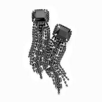 Statement Crystal Fringe Earrings