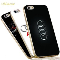 Minason Soft TPU Silicone Car Logo Capa for iPhone X 10 8 7 5 S 5S SE 6 6S plus Case Audi Honda Mazda Cover Phone Fundas Capinha