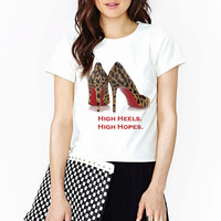 Louboutin Inspired Leopard Pumps T-shirt (14-001)