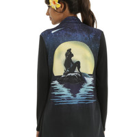Disney The Little Mermaid Ariel Moon Silhouette Girls Cardigan