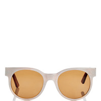 Avida Dollars Oversized White Sunglasses