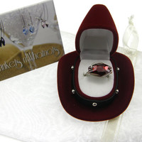 Crystal Swarovski Ring The 46th Annual CMA Awards Limited Quantity Red Magma Hexagon