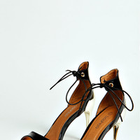 Abbie Patent Lace Up Ankle Strap Heels