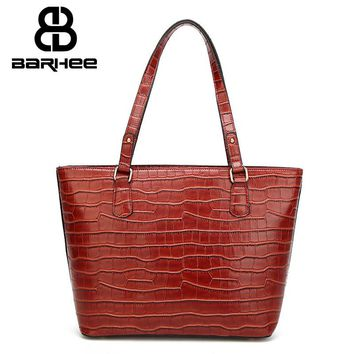 Exclusive European Vintage Women Tote Handbags Luxury Design Crocodile Women Shoulder Bag Alligator Pattern Exquisite Hand Bag