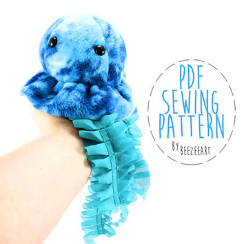 Jellyfish Stuffed Animal Sewing Pattern