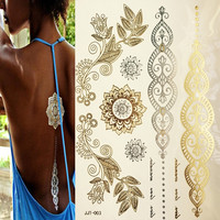 Temporary Bronze Metallic Tattoos