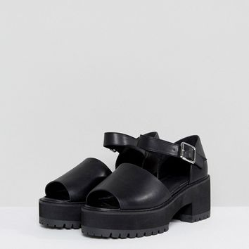 ASOS TAKE IT BACK Wide Fit Chunky Heeled Sandals at asos.com