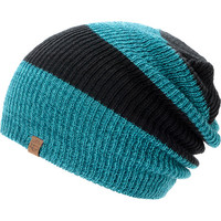 Empyre Girls Piper Black & Teal Rugby Stripe Beanie at Zumiez : PDP
