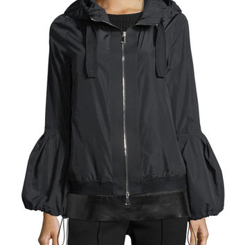 Moncler Fume Long-Sleeve Poof Jacket w/ Hood