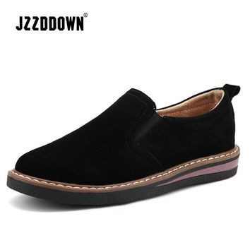 Cow Suede Leather Oxford  Loafers  Flats
