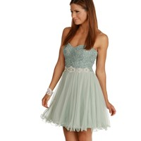 Chloe-mint Homecoming Dress