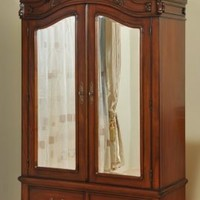 03-01 DA Two Door Armoire With Two Drawers - The French Furniture Company