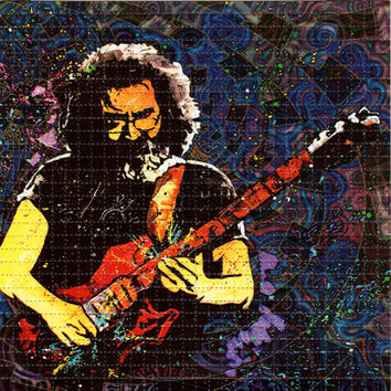 Jerry Garcia BLOTTER ART - perforated acid art paper - Kesey Leary Hofmann Owsley Grateful Dead psychedelic lsd sheet tabs