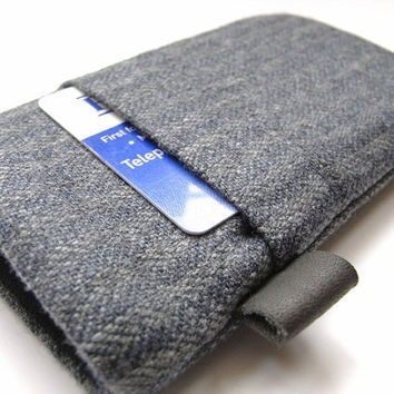 iphone 4 Case / iphone Cover / Gray Wool Cozy with by pomella