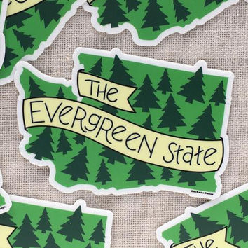 The Evergreen State Vinyl Sticker