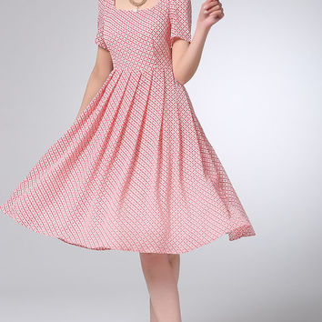 Mini chiffon dress cute women dress (1200)