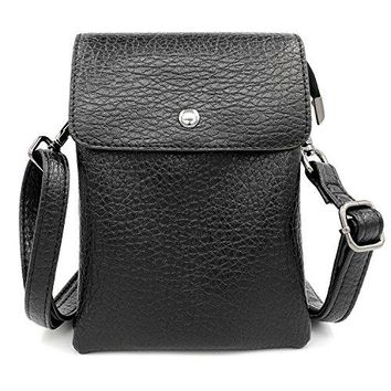 Womens PU Leather Shoulder Bags Small Crossbody Purses Wallet Cell Phone Pouch