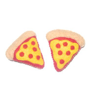 Pizza Brooch Pin - Plush Junk Food - Pepperoni Pizza - Felt Food