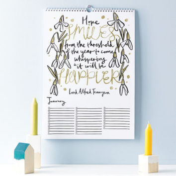 Literary Quotations Perpetual Calendar