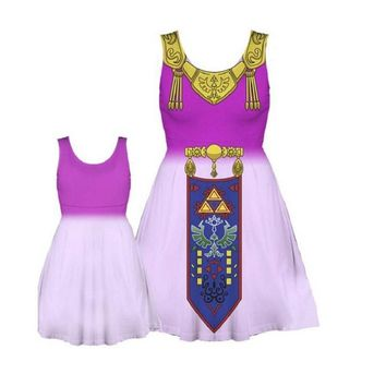 The Legend of Zelda  Cosplay Costume Zelda Princess Girl Gift Party Dress Festival Skirt for Big Event Cos Dress with Free Gift