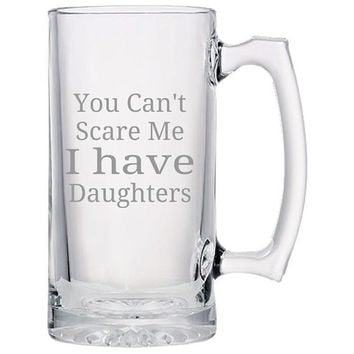 You Can't Scare Me Beer Mug, Beer Mugs For Dads, Father's Day Mugs, Father's Day Gifts, Father's Day Presents, Father's Day Gift Ideas
